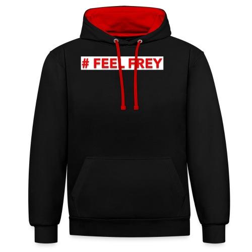 FEEL Frey - Kontrast-Hoodie