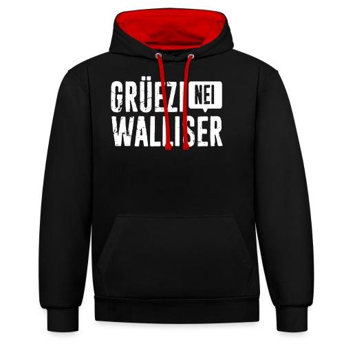 Grüezi – Nei, Walliser - Kontrast-Hoodie