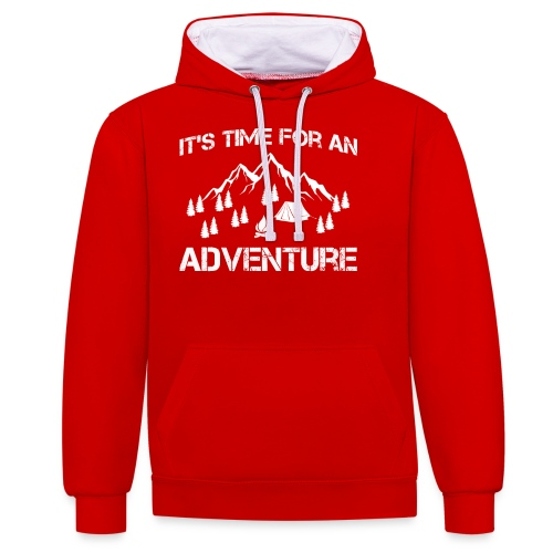 It's time for an adventure - Contrast Colour Hoodie