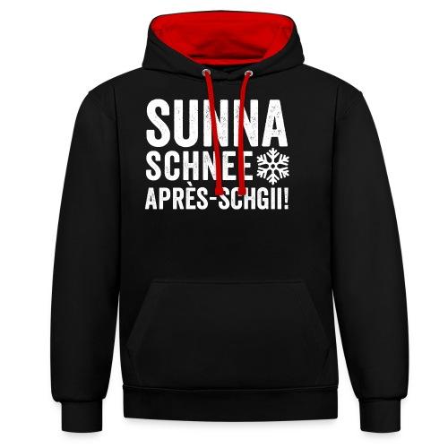 SUNNA, SCHNEE, APRÈS-SCHGII - Kontrast-Hoodie