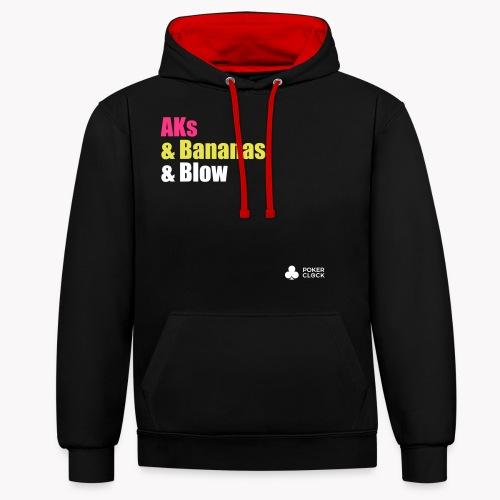 AKs & Bananas & Blow - Kontrast-Hoodie