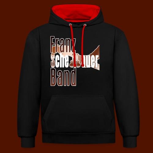 FSB logo brown - Contrast Colour Hoodie
