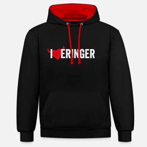 I LOVE ERINGER - Kontrast-Hoodie