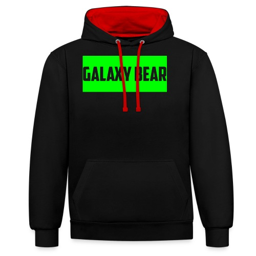 Galaxy Bear Lime png - Contrast Colour Hoodie