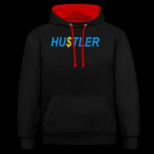 Hustler Used Look - Kontrast-Hoodie