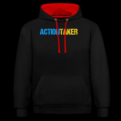 Actiontaker - Kontrast-Hoodie