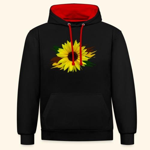 Sonnenblume, Sonnenblumen, Blume, floral, blumig - Kontrast-Hoodie