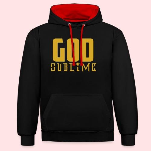 GOD SUBLIME - Sudadera con capucha en contraste