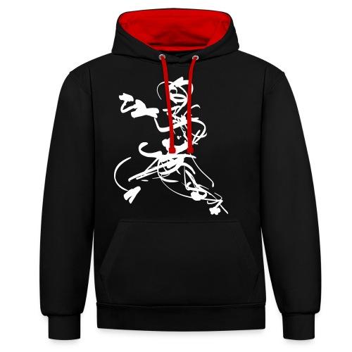 mantis style - Contrast Colour Hoodie