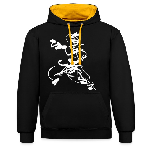 mantis style - Contrast Colour Hoodie