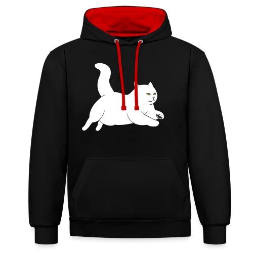 running cat - Kontrast-Hoodie