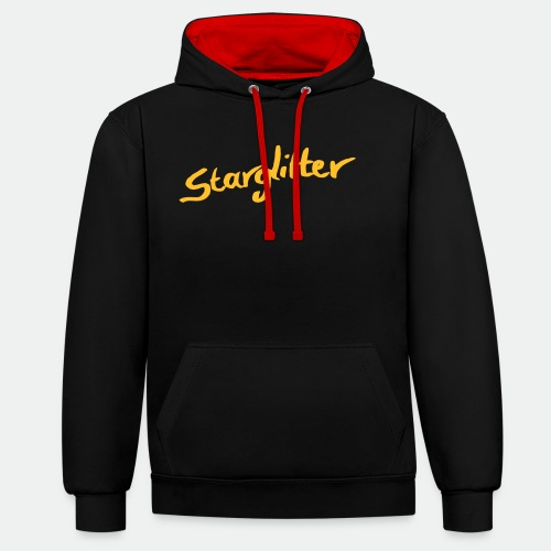 Starglitter - Lettering - Contrast Colour Hoodie