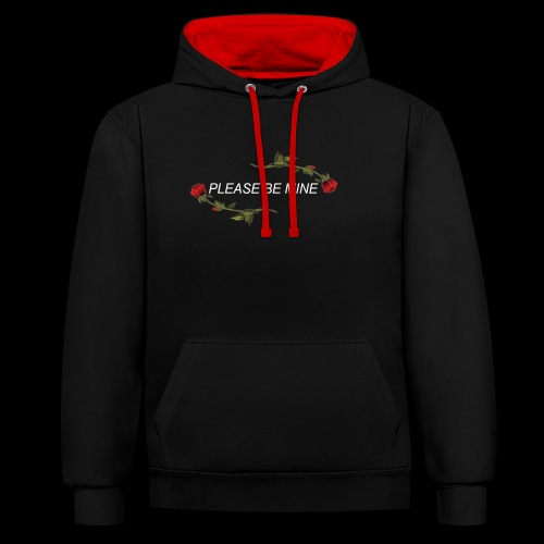 Please Be Mine - Contrast Colour Hoodie