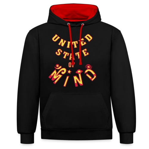 United State of Mind - Kontrast-hættetrøje