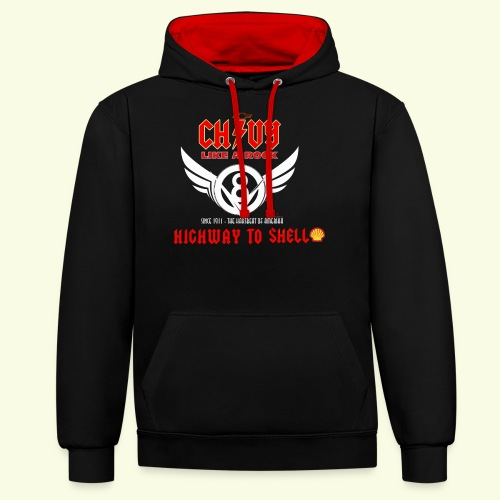 Chevy Rock - Contrast Colour Hoodie