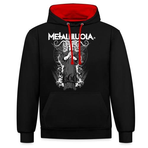 Metalliluola logo ja Demoniac 666 - Kontrastihuppari