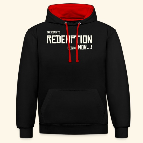 Wild West Game Text Design - Contrast Colour Hoodie