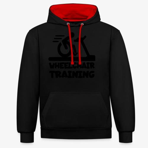 Rolstoel training 001 - Contrast hoodie