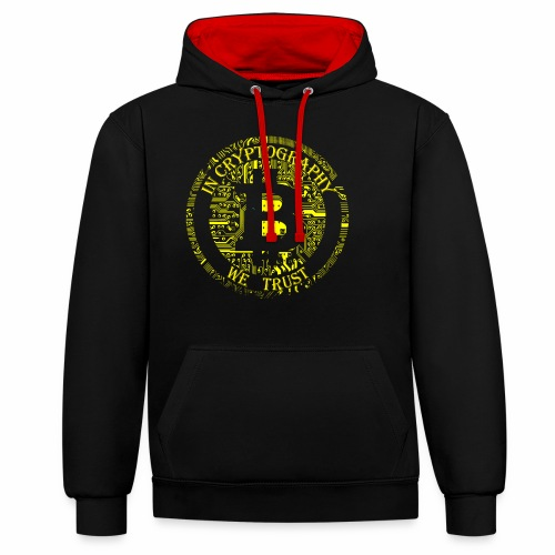 In cryptography we trust 2 - Contrast Colour Hoodie