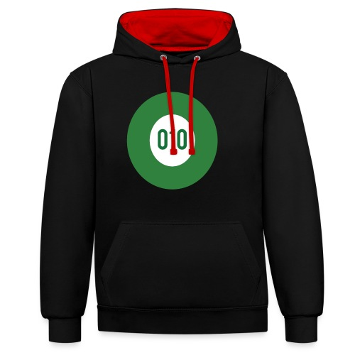010 logo - Contrast hoodie