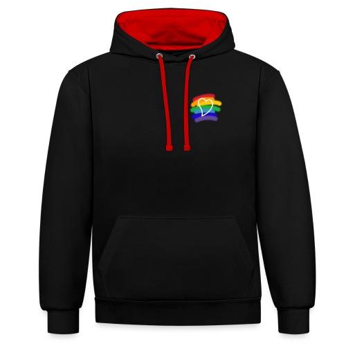 Love color - Sudadera con capucha en contraste