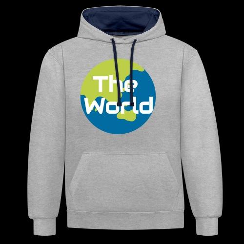 The World Earth - Kontrast-hættetrøje