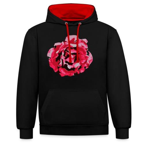 rose - Kontrast-Hoodie