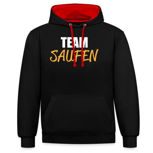 Team saufen Shirt - Kontrast-Hoodie