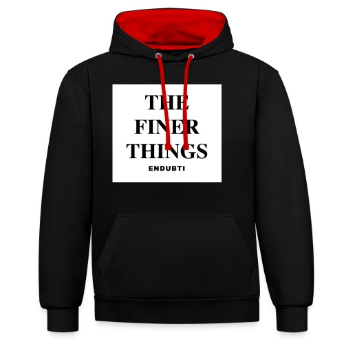 THE FINER THINGS by ENDUBTI - Contrast hoodie