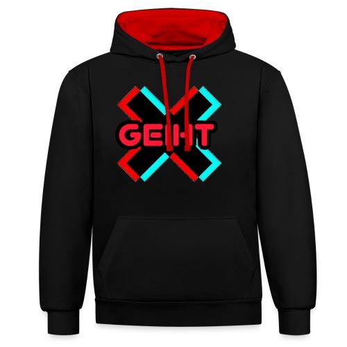 Geiht - Sudadera con capucha en contraste
