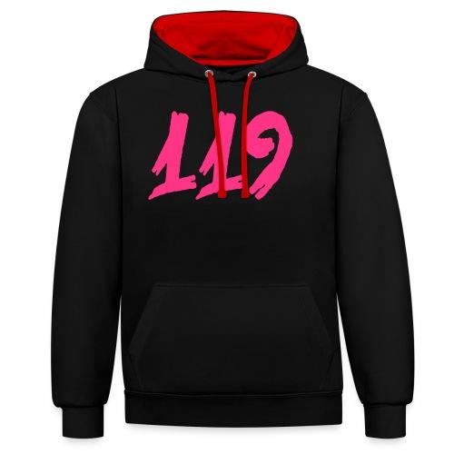 119 Zahl Scratchy Pelibol ™ - Kontrast-Hoodie