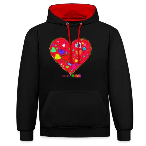 HerzensMama - Kontrast-Hoodie