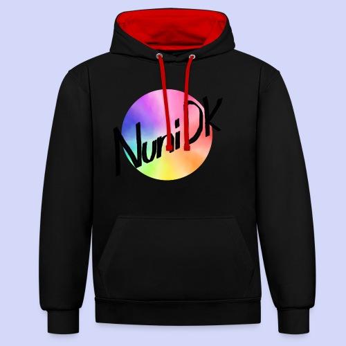 Rainbow shade, NuniDK Collection - Female top - Kontrast-hættetrøje