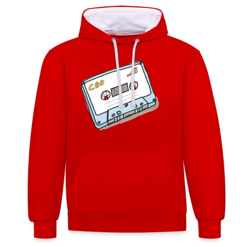 Cassette - Kontrast-Hoodie