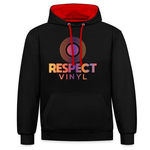 Disco Sisco • Respect Vinyl - Kontrast-Hoodie
