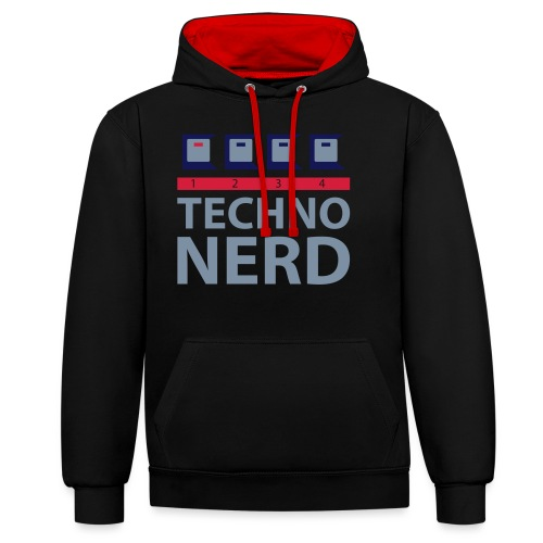 Techno Nerd - Contrast Colour Hoodie