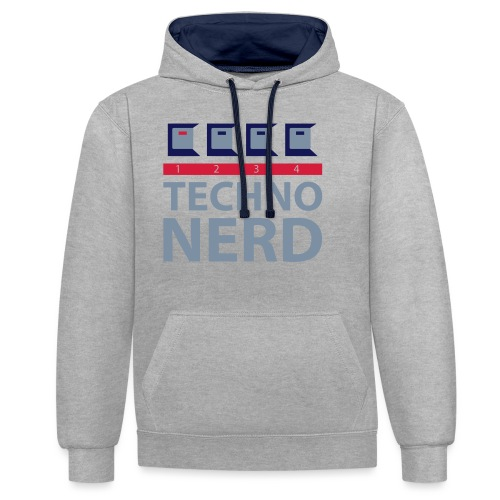 Techno Nerd - Contrast Colour Hoodie