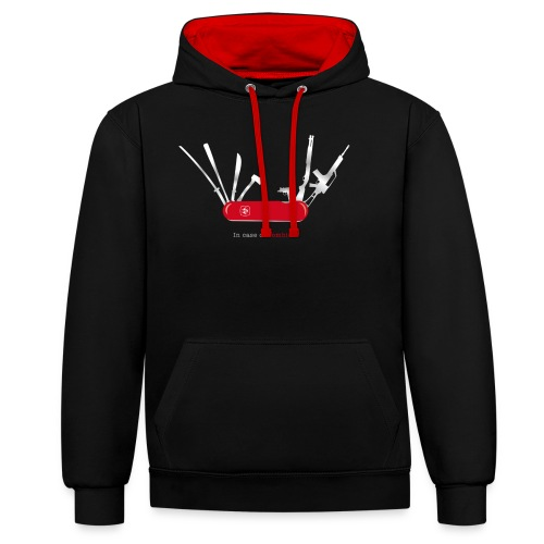In case of zombies - Kontrast-Hoodie