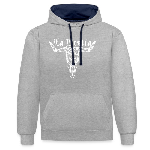 LaBestiaWhite png - Contrast hoodie