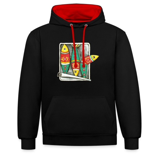 Les sardines du Portugal - Sweat-shirt contraste