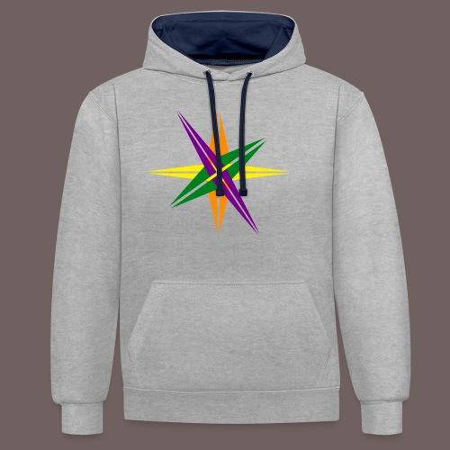 GBIGBO zjebeezjeboo - Love - Couleur d'étoile brillante - Sweat-shirt contraste