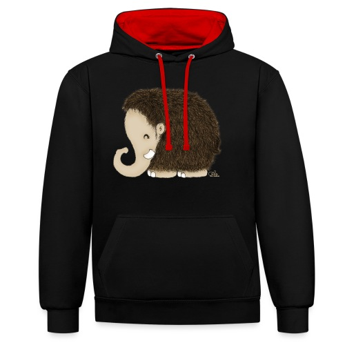 Mini-Mammut Michel - Kontrast-Hoodie