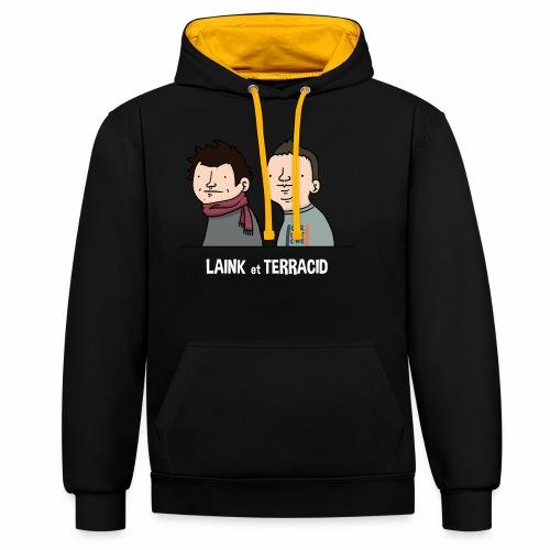 Laink et Terracid old - Sweat-shirt contraste