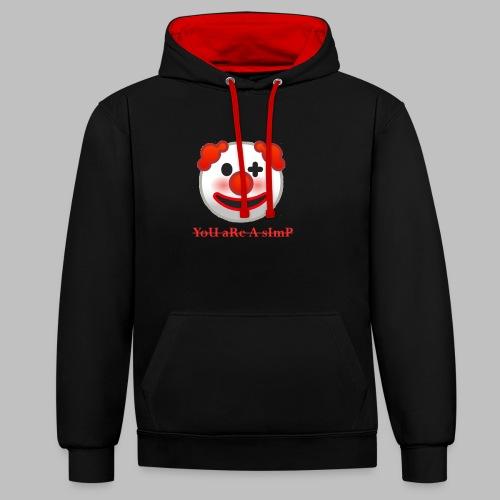 Clown Emoji - Contrast hoodie