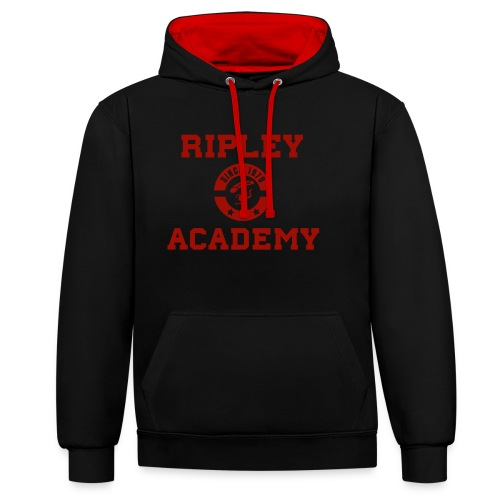 RIPLEY RED - Sudadera con capucha en contraste