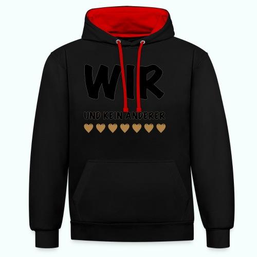 WIR - Kontrast-Hoodie