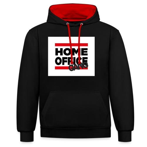 home office gang - Kontrast-Hoodie