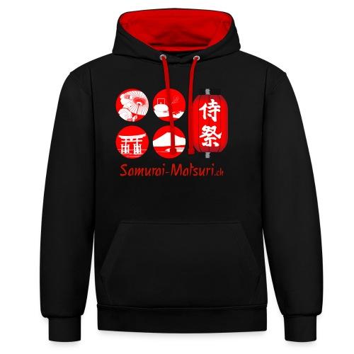 Samurai Matsuri Festival - Kontrast-Hoodie