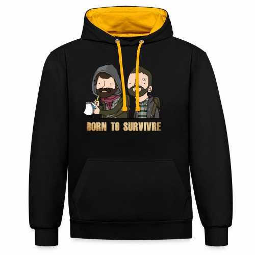 Born to Survivre - Sweat-shirt contraste