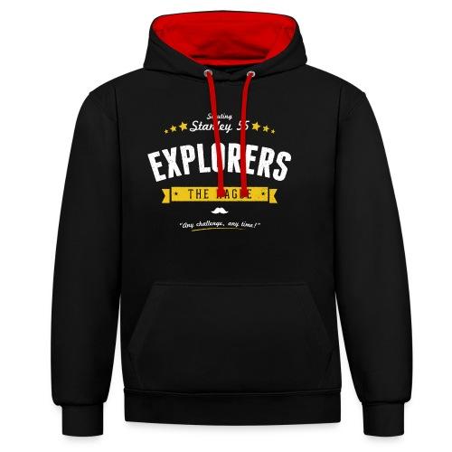 Explorershirt - Contrast hoodie